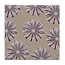Neutral Blooms Tile Coaster