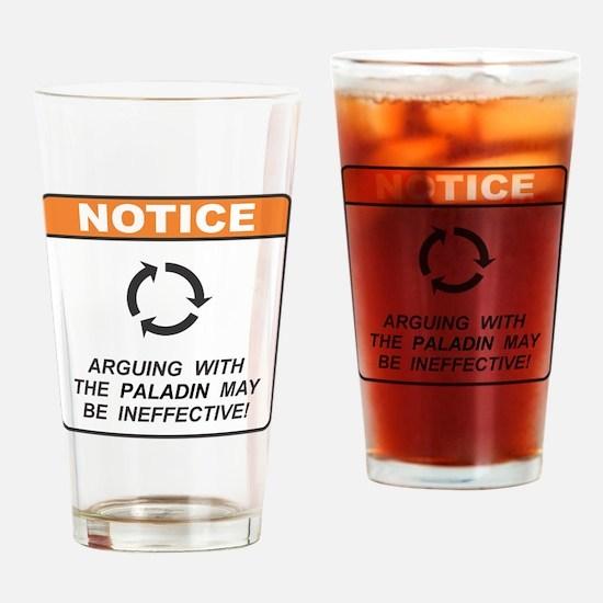Paladin / Argue Drinking Glass