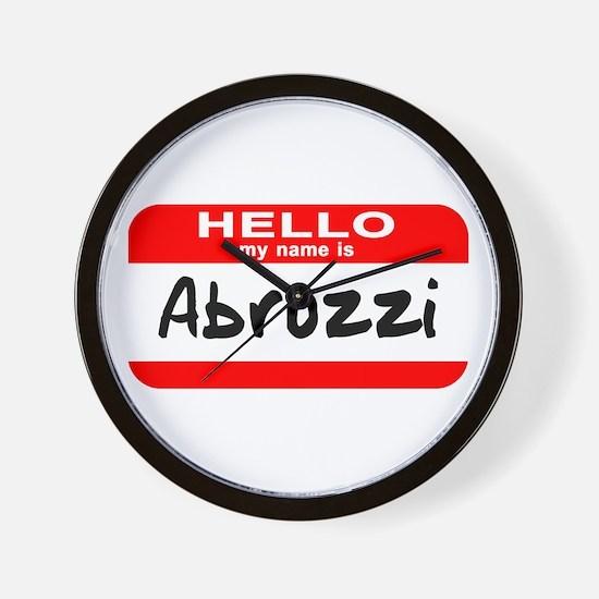Hello My Name is Abruzzi Wall Clock