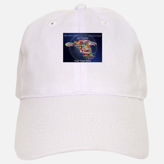 PERSONALIZED ENDURING FREEDOM VETERAN Baseball Baseball Cap