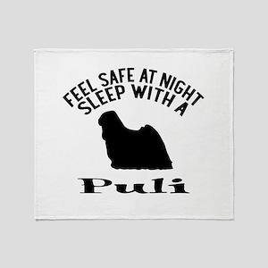 Feel Safe At Night Sleep With Puli Throw Blanket