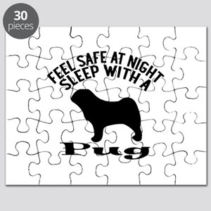 Feel Safe At Night Sleep With Pug Puzzle