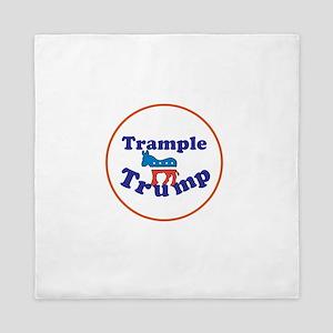 Trample Trump, Anti Trump Queen Duvet