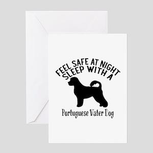 Feel Safe At Night Sleep With Portug Greeting Card