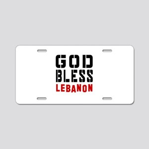 God Bless Lebanon Aluminum License Plate