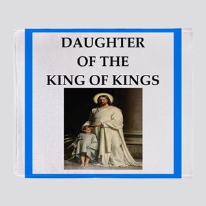 king of kings Throw Blanket