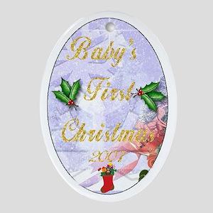 Christmas Ornamants Oval Ornament