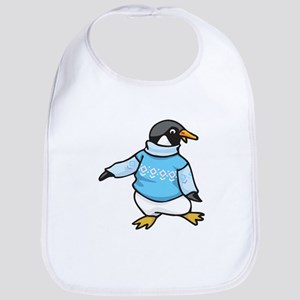 Penguin in Sweater Bib