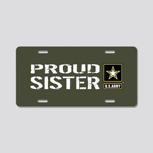 U.S. Army: Proud Sister (Mi Aluminum License Plate