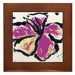 Tropical Florals Framed Tile