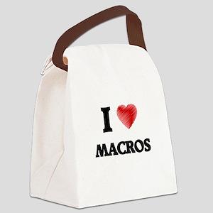 I Love Macros Canvas Lunch Bag