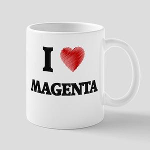 I Love Magenta Mugs