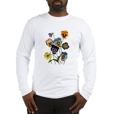 PARADE OF PANSIES Long Sleeve T-Shirt