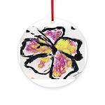 Tropical Florals Ornament (Round)