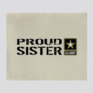 U.S. Army: Proud Sister (Sand) Throw Blanket