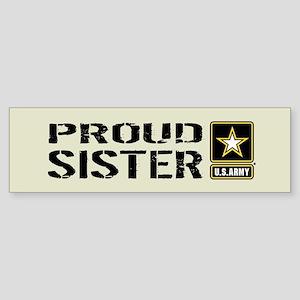 U.S. Army: Proud Sister (Sand) Sticker (Bumper)