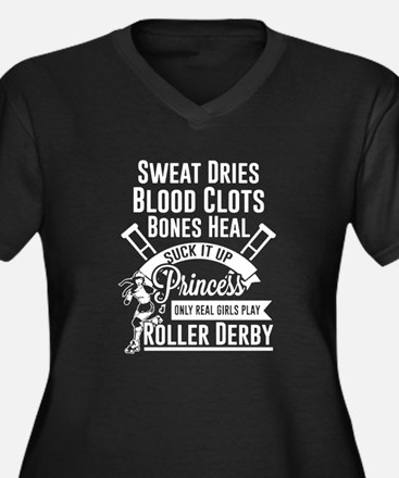 Real Girl Play Roller Derby Plus Size T-Shirt
