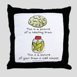 Med School Brain Throw Pillow