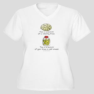 Med School Brain Women's Plus Size V-Neck T-Shirt
