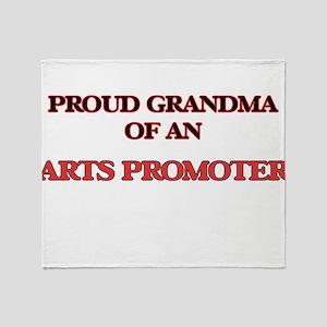 Proud Grandma of a Arts Promoter Throw Blanket