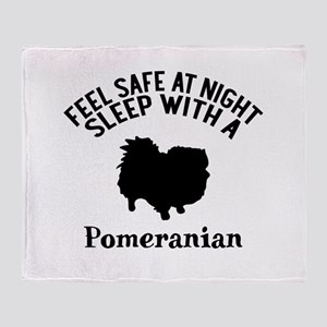 Feel Safe At Night Sleep With Pomera Throw Blanket