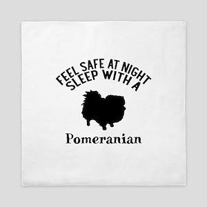 Feel Safe At Night Sleep With Pomerani Queen Duvet