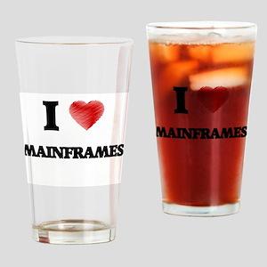 I Love Mainframes Drinking Glass