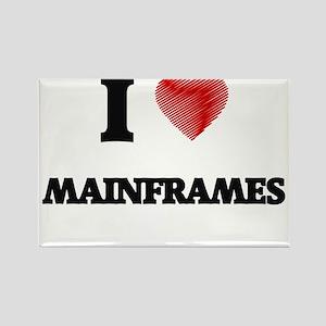 I Love Mainframes Magnets