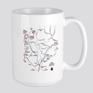 Old Rag Mountain trail map Large Mug