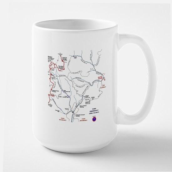 Old Rag Mountain trail map Large Mug