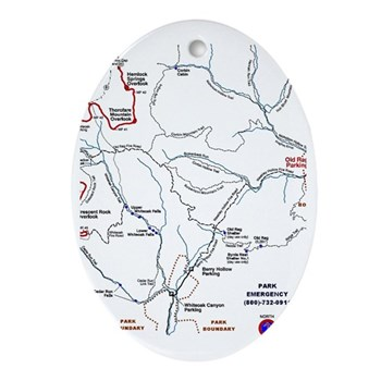 Old Rag Mountain Trail Map Oval Ornament Old Rag Mountain - Old rag map