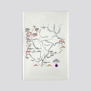 Old Rag Mountain trail map Rectangle Magnet