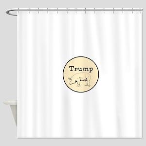Trump pig, anti Trump Shower Curtain