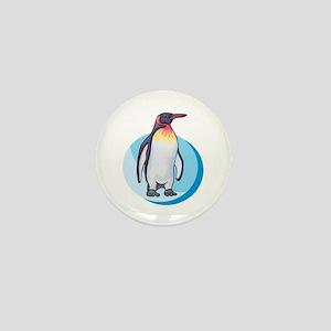 King Penguin Design Mini Button