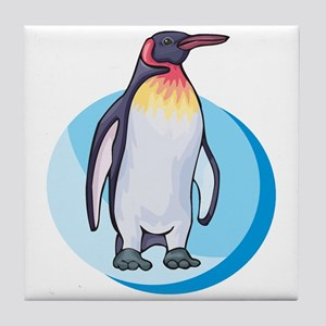 King Penguin Design Tile Coaster