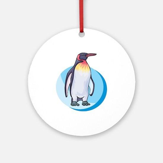 King Penguin Design Ornament (Round)