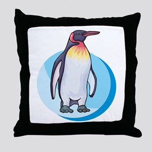King Penguin Design Throw Pillow