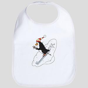 Happy Skiing Penguin Bib
