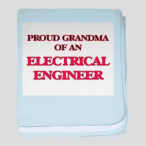 Proud Grandma of a Electrical Enginee baby blanket