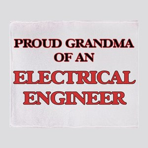 Proud Grandma of a Electrical Engine Throw Blanket