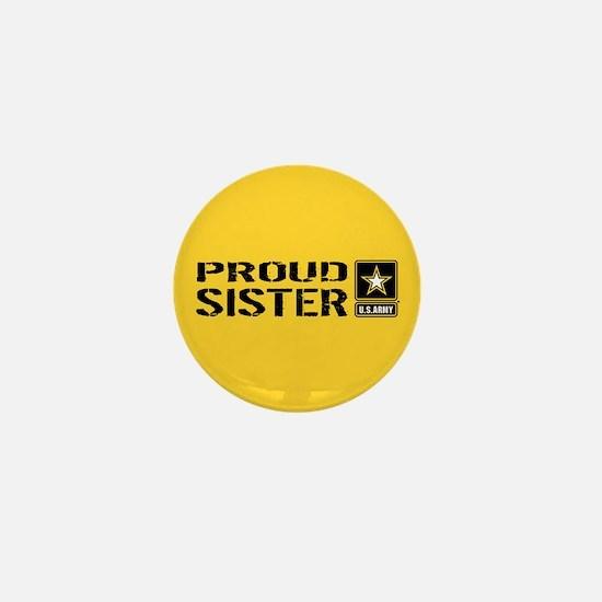 U.S. Army: Proud Sister (Gold) Mini Button