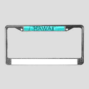 Hawaii Emerald sun fish ocean License Plate Frame