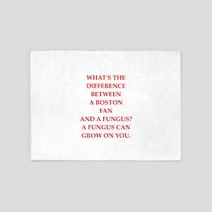 boston fan 5'x7'Area Rug