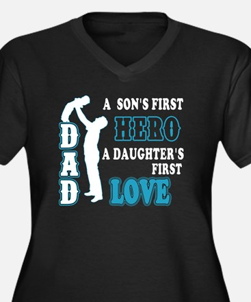 Funny Dad Women's Plus Size V-Neck Dark T-Shirt