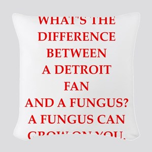 detroit Woven Throw Pillow