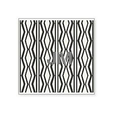 Black White Pattern Monogram Sticker