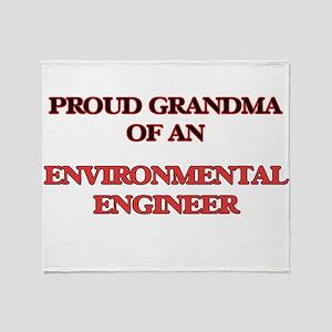 Proud Grandma of a Environmental Eng Throw Blanket