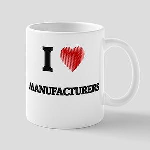 I Love Manufacturers Mugs