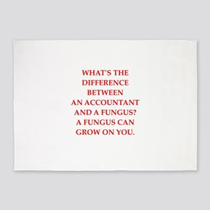 accountant 5'x7'Area Rug