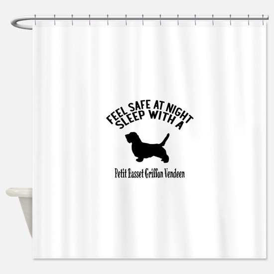 Feel Safe At Night Sleep With petit Shower Curtain